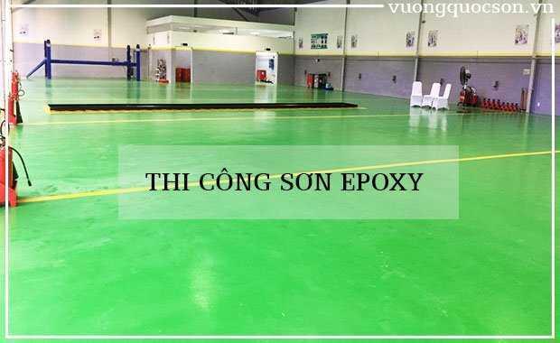 Phương pháp thi công sơn Epoxy nề gạch men