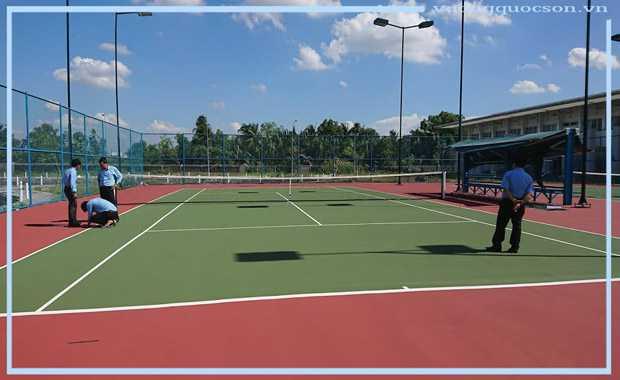 Bảng Báo Giá Thi Công Sơn Sân Tennis Trọn Gói Khu Vực Huyện Hóc Môn