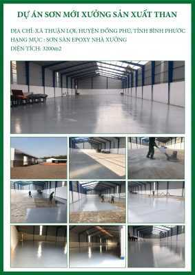 CTCH0032020 Dự án sơn mới xưởng sản xuất than
