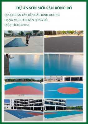 CTCH0072020 Dự án sơn mới sân bóng rổ 1