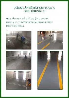 CTCH0502019 sơn sàn epoxy và kẻ vạch