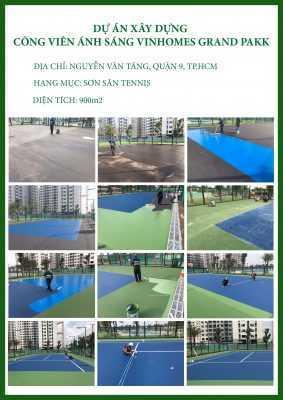 CTCH0562019 sơn sân tennis